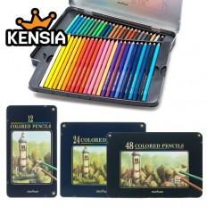 문화 색연필 12색 24색 36색 48색 (틴케이스)