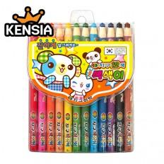 지구색색이색연필 12색(축지식/풀어쓰는 색연필)