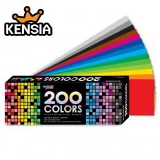 200 COLORS(중) 200컬러/컬러리스트 자격증 준비교재/컬러리스트색종이