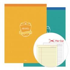 절취선노트 커버패드(A4/B5) 속기용/세미나용 노트