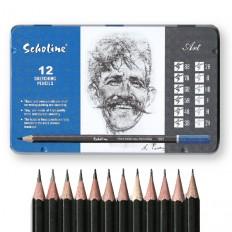 스케치용 미술연필세트(12가지심등급1세트)/드로잉용