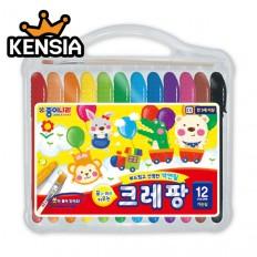 크레팡 12색 색연필(가는심) 어린이 유치원