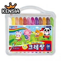 크레팡 24색 색연필(가는심) 어린이 유치원