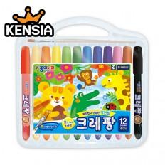 크레팡 12색 색연필(중간심)
