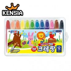 크레팡 12색 색연필(굵은심) 어린이 유치원