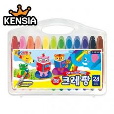 크레팡 24색 색연필(굵은심) 어린이 유치원