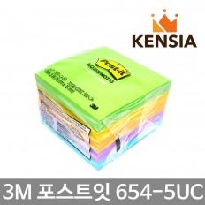 3M 포스트잇 파스텔노트 654-5UC 자이푸르